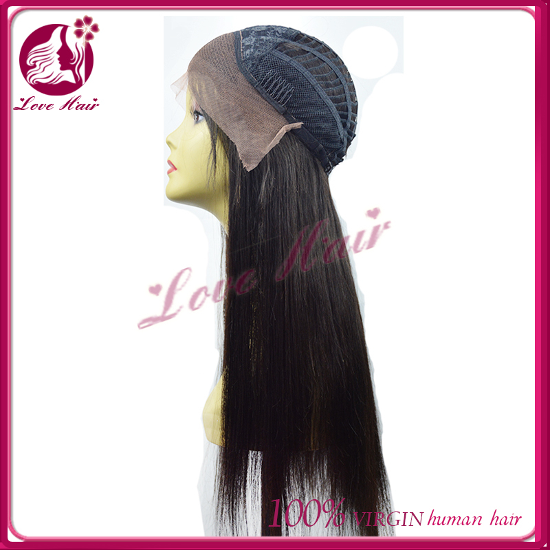 2016new health benefits lace front wig joviality free parting black hair great character straight brazilian hair