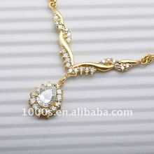 Gold-plating silver thick necklace for women