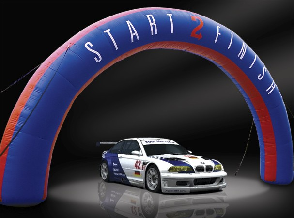 Inflatable promotional / start finish line arch