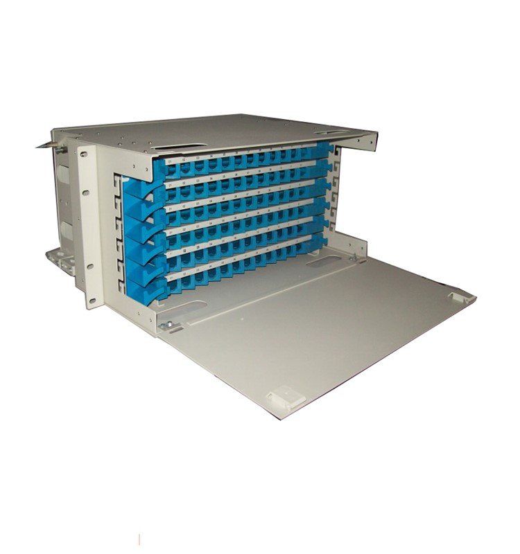 Fiber termination box 96 Port Rack Mount 19 Inch Fiber Optic ODF