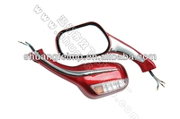 FLYQUICK Motorcycle Plastic Rearview Mirror with LED Light Turn Signal for ZY125 (ZF001-1)