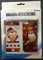 Cute Santa Claus Christmas LED Flash Lighting Case for Apple iPhone 5