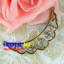 2015 fashion bag buckle, crystal rhinestone ribbon buckle for Decoration