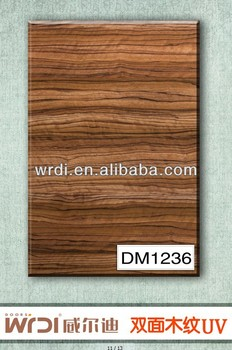 High quality double side wood grain kitchen cabinet board DM1236