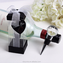 Factory wholesale good quality crystal wine stopper for wedding favor