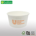 Uni white paper bowl white soup bowl disposable paper bowl