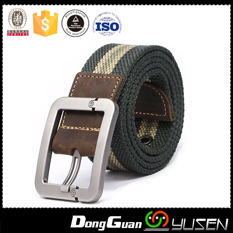 Webbing Mens Canvas Leather Pin Buckle Unisex UK Style Outdoors Belts