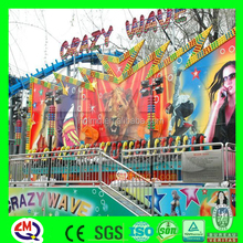 Fiberglass park rides wholesale amusement crazy wave family fun centers