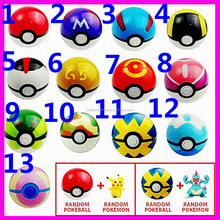 13 Pieces Plastic Super Anime Figures Balls for Pokemon Kids Toys Balls,New Hot Sell Pokemon Ball, Pokeball