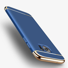 3 in 1 Ultra Thin Shockproof Cover Case for Samsung Galaxy note 8 S6 Edge J3 J5 J7 A5 A7 2016 Grand Prime Plating PC cases bag