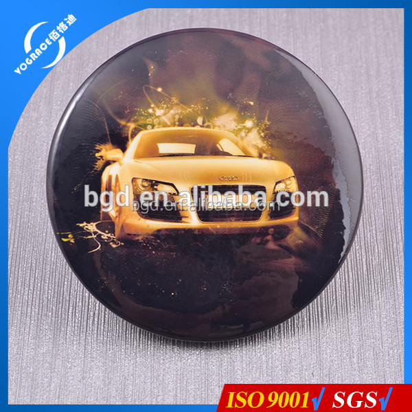 Hot sale 2016 Yiwu round badge manufacturer name badge supply round plastic bottom tinplate badge for Promotional Gifts
