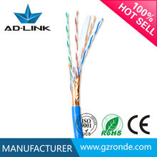 guangzhou electronics ftp cat6 shielded twisted pairs network cable ofc pure copper 28AWG conductor indoor ftp ethernet cable