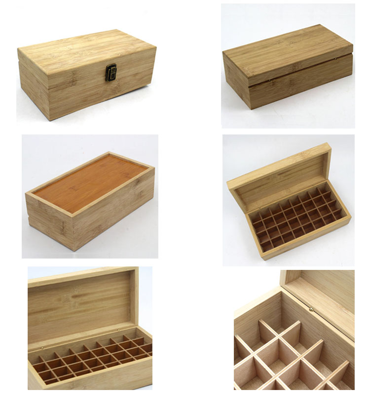 Natural custom hinged lid bamboo box