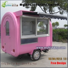 Myidea designed cheap price trailer hot dog cart for sale