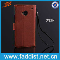 2013 new classical brown taiga pattern wallet phone cover for HTC One