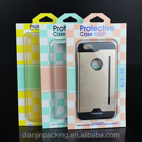 Custom cell phone case retail packaging