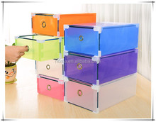 Stackable folding plain clear plastic shoe box wholesale