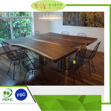 Simple Style Rectangular Solid Wood Dining Tables with Chairs