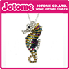 High Quality Rhinestone Crystal Sea Horse Pendant Necklace