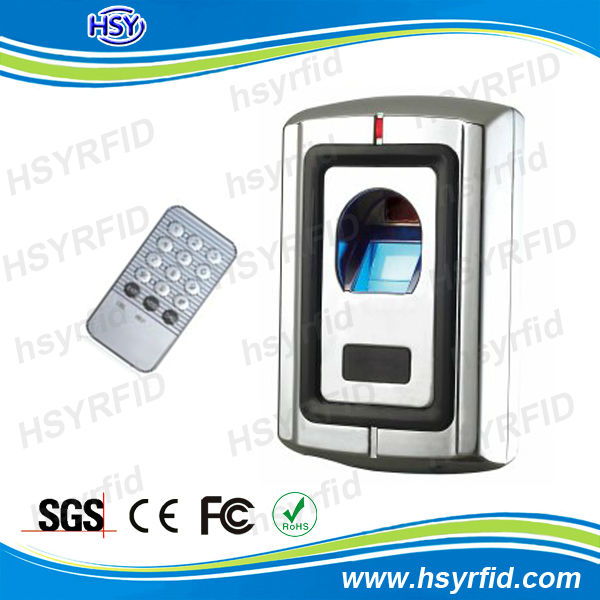 RFID waterproof outdoor fingerprint recognition device and door access control reader