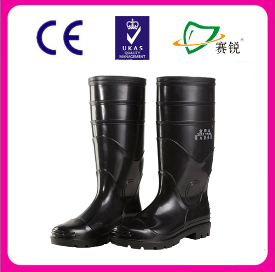 Black rubber half work boots
