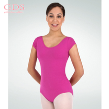Custom Made Cotton Fabric Sheer Woman Leotard