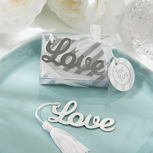 A Love Bookmark Favour Wedding Return Gifts