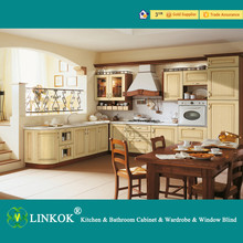 Wholesale cheap china blinds factory directly high class solid wood kitchen cabinets