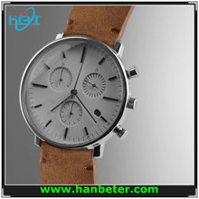 Miyota Watch Movement Luxury classic thin stainless steel case silver miyota automatic brand watches