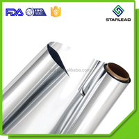Mirror Looking Surface PP Mylar Silver Metal CPP Film With Heat Sealable Layer
