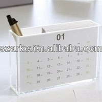 Acrylic Calendar Holder With Pen Holder