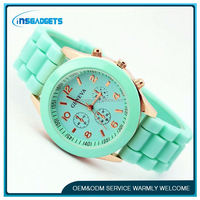 woman violet watch ,H0T418 geneva watch wholesale , new silicone watch