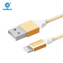 Premium fabric braided usb phone charger cable Micro USB data Cable for smart phone