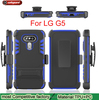 New Products 3 in 1 Dual Slim Armor Silicon + PC Kickstand Mobile Back Cover Case For LG G5
