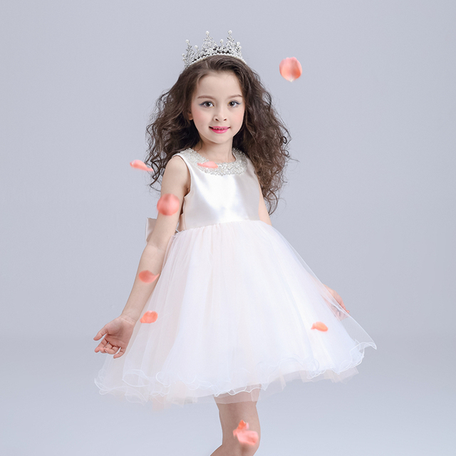 2018 cheap stylish bridesmaid little girls one piece dresses for children
