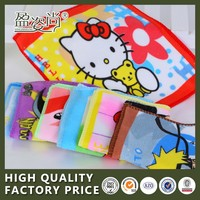 Hot China Manufacturer Cheap Hand Towel Wholesale 100% Cotton Printed Cartoon Jacquard Textile Small Square Face Towel