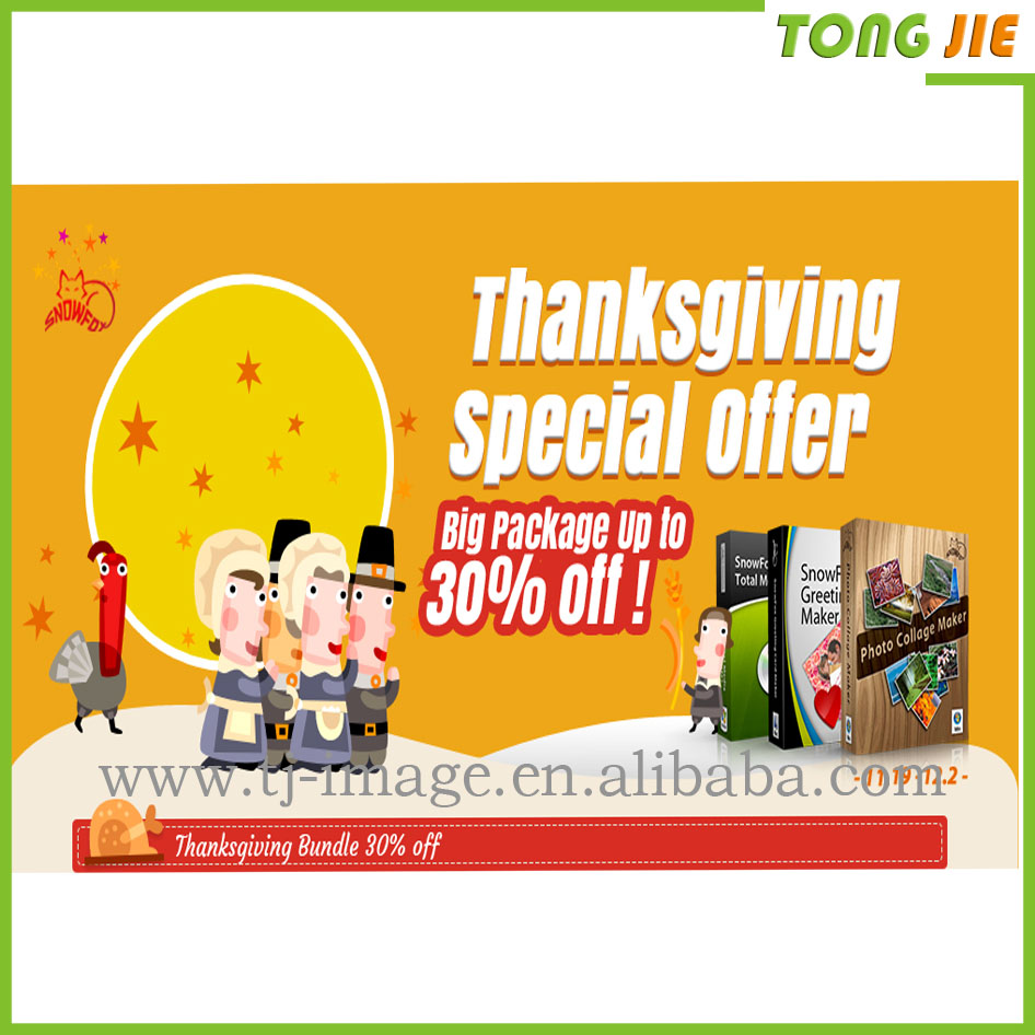 Thanks giving promotion Vinyl Banner ,mesh banner,pvc flex banner