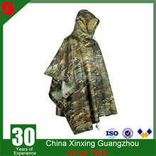 Top quality military poncho camouflage poncho