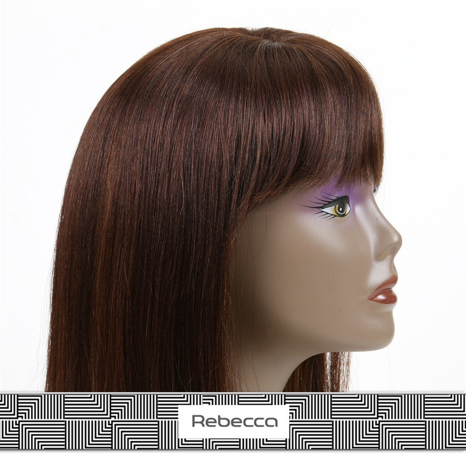 Rebecca 2015 finest quality 100% virgin remy human hair lace front box braid wig