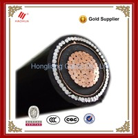 NO.3162- 11kV 33kV Medium Voltage XLPE PVC SWA( steel wire armoured) underground electrical cable 630mm single core cable