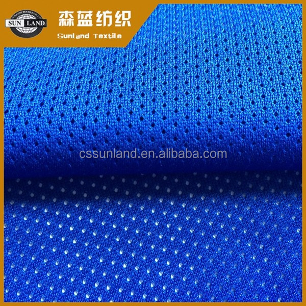 100% polyester dry fit Woven mesh fabric for sportwear