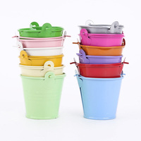Mini colorful tin metal bucket for kids gift promotion