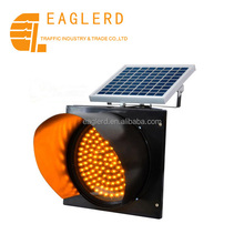 solar power led yellow flashing light for traffic safety