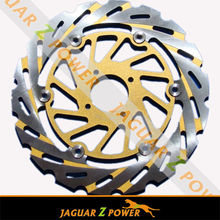 Motorcycle Chrome Stain Yellow Brake Disc Brake Rotor