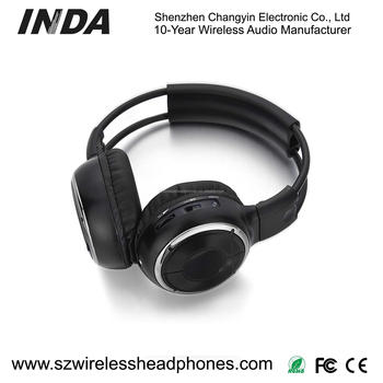 Folding Dual Channel Wireless IR Headsets IR2008D For Car/Truck DVD