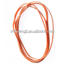 Red Colour Elastic Clear Rubber Bands/rainbo loom rubber bands