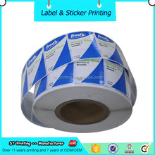 Adhesive logo print label waterproof plastic peel off sticker roll