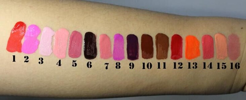16 color moisturizer your logo matte liquid makeup lipgloss