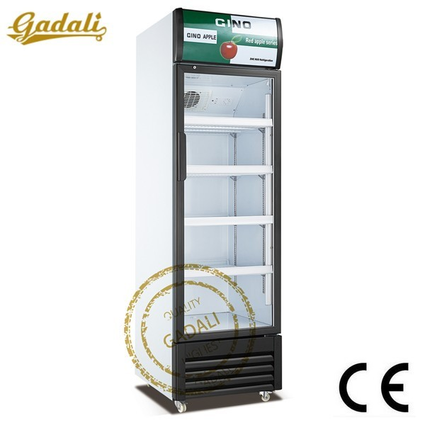 Flash single glass door display freezer, commercial freezer, cold drink freezer