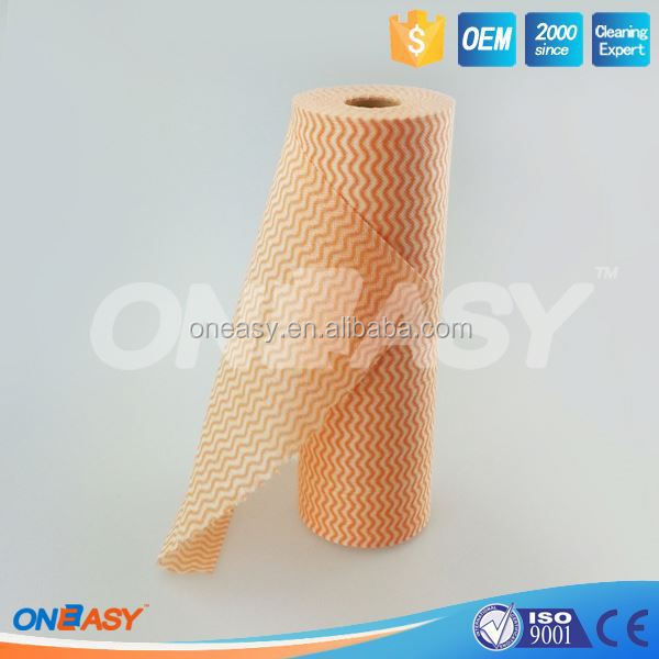 Biodegradable disposable nonwoven kitchen cleaning cloth